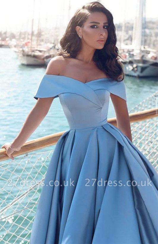 Gorgeous Off-the-Shoulder Mermaid Evening Dress UK Long With Slit BA6777