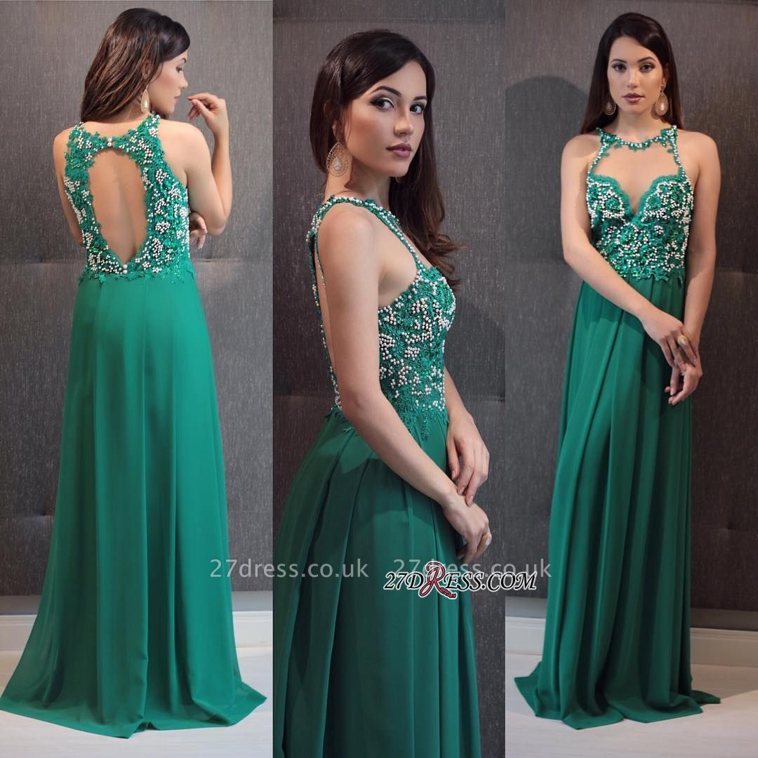 Green prom Dress UK, lace evening gowns