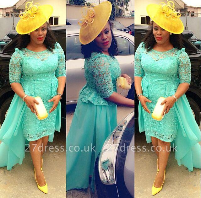 Luxury Lace Hi-Lo Cocktail Dress UK Chiffon