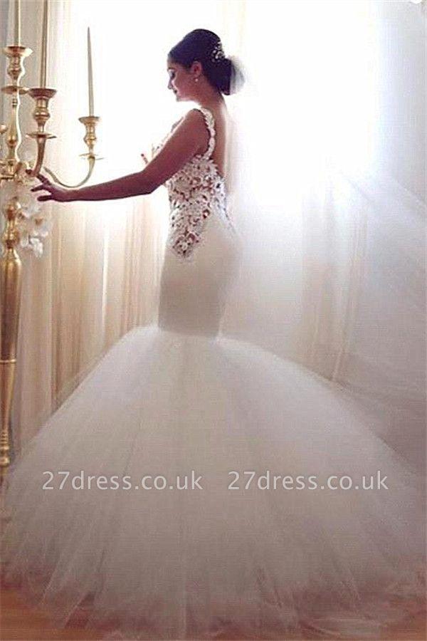 Gorgeous Lace Sexy Mermaid Wedding Dresses UK Tulle Sweetheart