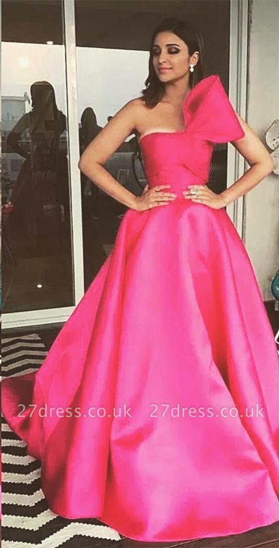 Charming Fuchsia Sleeveless Princess Prom Dress UK