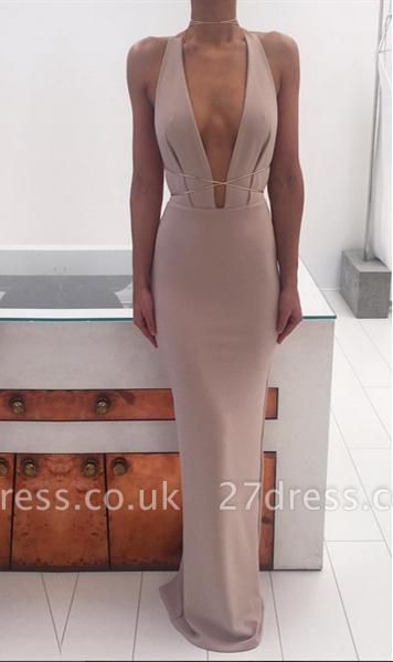 Sexy Deep V-Neck Long Evening Dress UKes UK Floor Length nr001