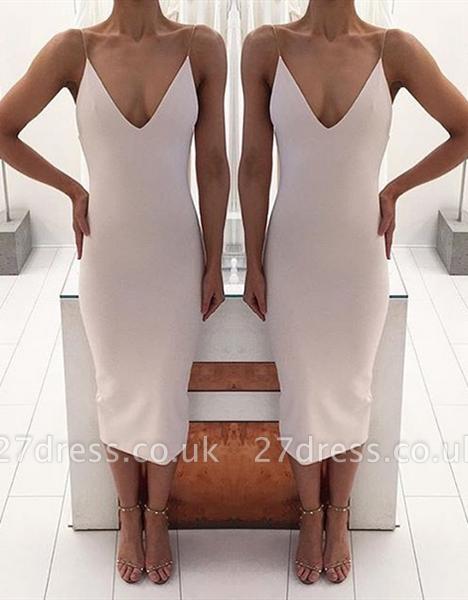 Sexy V-Neck Tea-Length Prom Dress UK Long