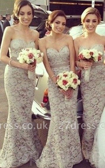 Cheap Lace Bridesmaid Dresses Sweetheart Floor Length Charming Sexy Party Dress