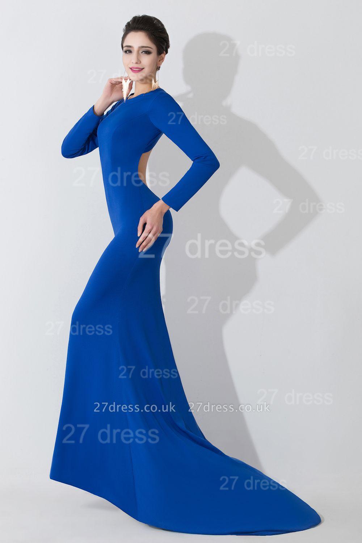 Elegant Mermaid Royal Blue Evening Dress UK Long Sleeve