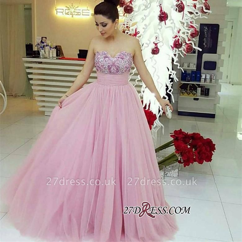 Beadings Fairy Tulle Sweetheart Long Luxury Prom Dress UK