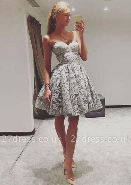 Sexy Sweetheart Lace Homecoming Dress UK   2019 Mini Party Dress UK On Sale