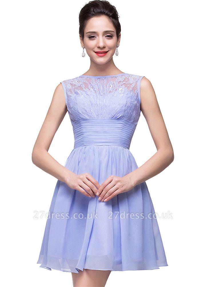 Lovely Sleeveless SHort Homecoming Dress UK lace