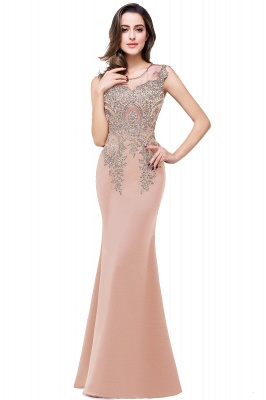ADDISYN | Mermaid Floor-length Chiffon Evening Dress with Appliques_1