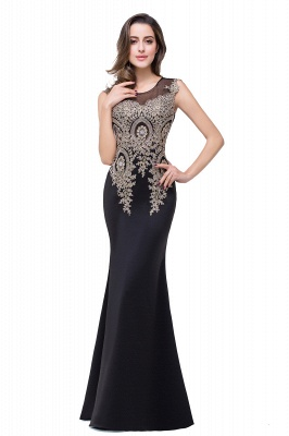 ADDISYN | Mermaid Floor-length Chiffon Evening Dress with Appliques_9
