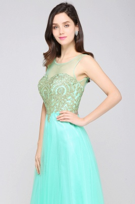 ARIA | A-line Scoop Tulle Gorgeous Evening Dresses with Appliques_13