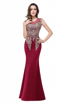 ADDISYN | Mermaid Floor-length Chiffon Evening Dress with Appliques_4