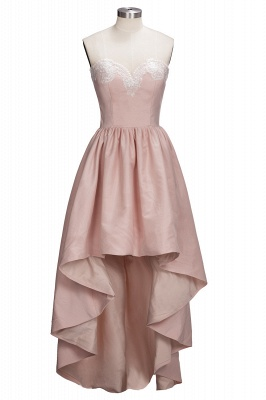 Ball-Gown Lace High-low Sweetheart Modern Cocktail Dress UK LPL104_1