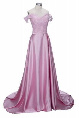 Split Lace Long Sexy Floor-Length Off-the-Shoulder Evening Dress UK_5