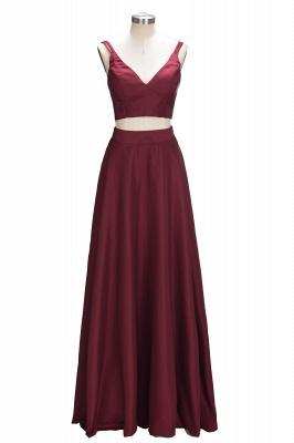 Straps Two-Piece Sexy A-line Sleeveless Burgundy Prom Dress UK SP0316_1