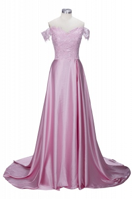 Split Lace Long Sexy Floor-Length Off-the-Shoulder Evening Dress UK_2
