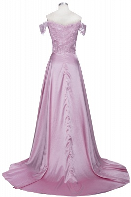 Split Lace Long Sexy Floor-Length Off-the-Shoulder Evening Dress UK_3
