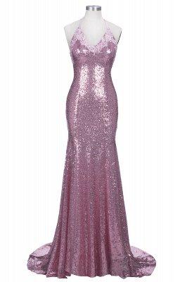 Gorgeous Sequins V-Neck Prom Dress UKes UK Mermaid Spaghetti Straps Party Gowns_1