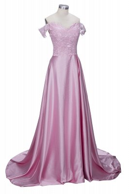 Split Lace Long Sexy Floor-Length Off-the-Shoulder Evening Dress UK_5