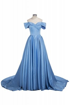 Gorgeous Off-the-Shoulder Mermaid Evening Dress UK Long With Slit BA6777_1
