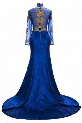 SAL | Mermaid Long Sleeves Front Split Appliques Prom Dresses_3