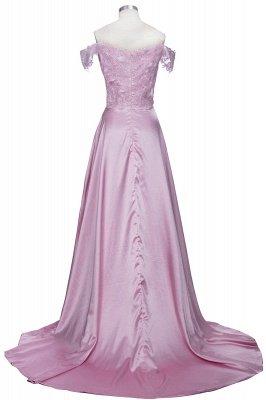 Split Lace Long Sexy Floor-Length Off-the-Shoulder Evening Dress UK_3