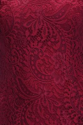 Elegant Mermaid Floor Length Halter Lace Burgundy Bridesmaid Dress UK UKes_8