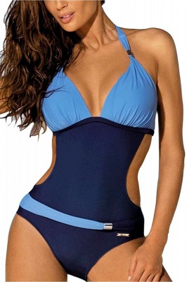 One-Piece Halter Waist Exposed Swimsuit_6