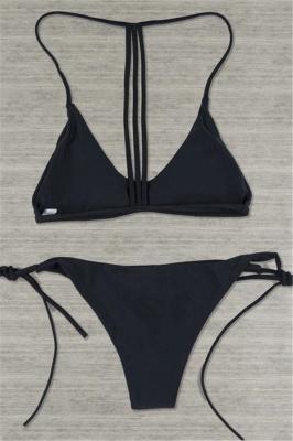 Multi-colors Strip Sexy Bikini Swimsuit Set_2