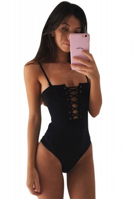 One-piece Lace-up Women's Swimsuit_3