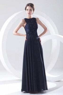 Sleeveless Long Beadings Chiffon Lace Sexy Bridesmaid Dress UK_1