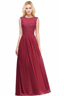 Pink Long Sleeveless Sheer-Back Prom Dress UK Sexy Lace Chiffon Bridesmaid Dress UK_2