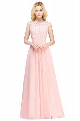 Pink Long Sleeveless Sheer-Back Prom Dress UK Sexy Lace Chiffon Bridesmaid Dress UK_1