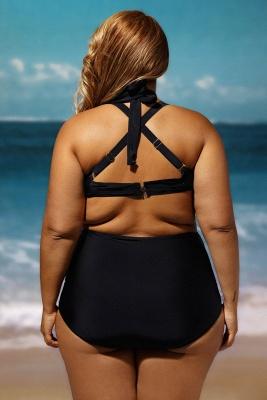 Plus Size Black Wrap Underwire High Waist Sexy Bikini_6