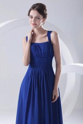 Royal-Blue Straps A-line Sleeveless Newest Ruffles Bridesmaid Dress UK_1