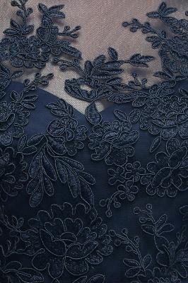 NANA | A-line Half Sleeves Floor Length Slit Appliqued Tulle Prom Dresses with Sash_10