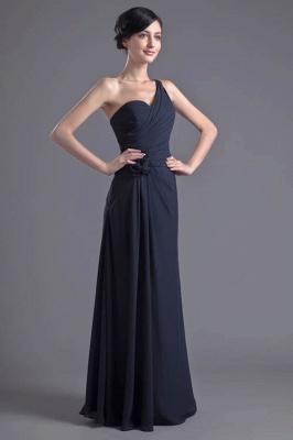 Sexy A-Line Flower One-Shoulder Floor-Length Bridesmaid Dress UKes UK_1