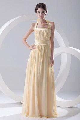 Floor-Length A-Line Yellow Zipper Ruffles Gorgeous Bridesmaid Dress UKes UK_1