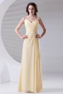 Spaghetti-Straps Chiffon A-Line Sexy Bridesmaid Dress UKes UK_1