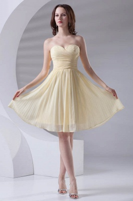 Short A-line Sleeveless Ruffles Sweetheart Newest Bridesmaid Dress UK_1