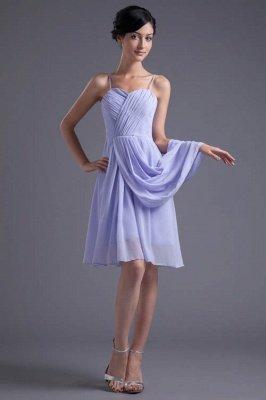 Sexy Online Ruffles Short Lavender Chiffon Spaghetti-Straps Bridesmaid Dress UKes UK_1