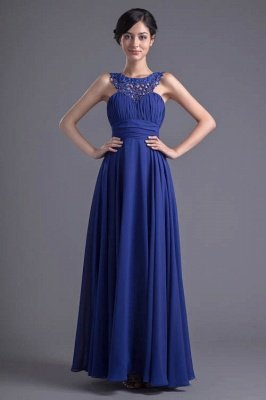 Sexy Chiffon A-line Lace Evening Dress UK Zipper Floor-length_1