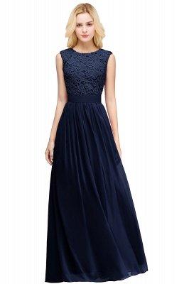 Pink Long Sleeveless Sheer-Back Prom Dress UK Sexy Lace Chiffon Bridesmaid Dress UK_3