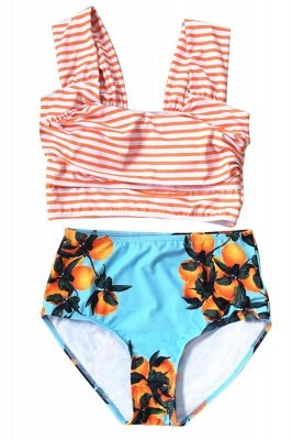 Two-pieces Printed Patterns High-waisted Sexy Bikini Set_21
