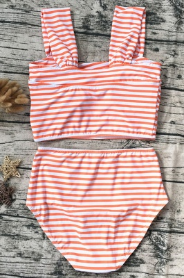 Two-pieces Printed Patterns High-waisted Sexy Bikini Set_9