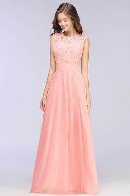 Pink Long Sleeveless Sheer-Back Prom Dress UK Sexy Lace Chiffon Bridesmaid Dress UK_11