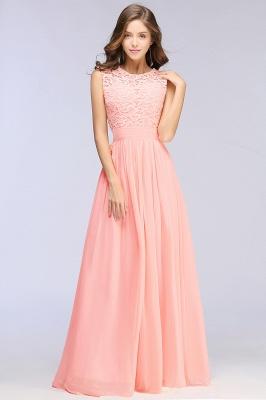 Pink Long Sleeveless Sheer-Back Prom Dress UK Sexy Lace Chiffon Bridesmaid Dress UK_12