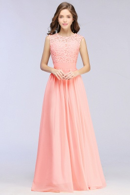 Pink Long Sleeveless Sheer-Back Prom Dress UK Sexy Lace Chiffon Bridesmaid Dress UK_7