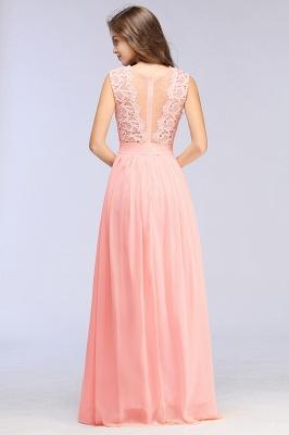 Pink Long Sleeveless Sheer-Back Prom Dress UK Sexy Lace Chiffon Bridesmaid Dress UK_14