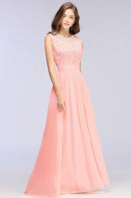 Pink Long Sleeveless Sheer-Back Prom Dress UK Sexy Lace Chiffon Bridesmaid Dress UK_9